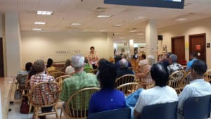 Speaking at the Hawai'i State Library